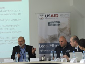 Presentation of the Legal Ethics Chair project and Working Group Meeting